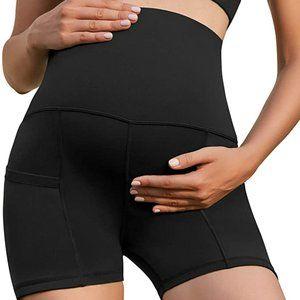 Xpenyo Women Maternity Athletic Yoga Shorts